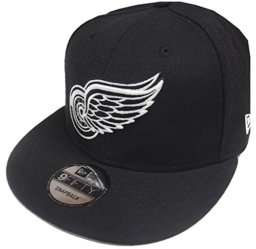 New Era Detroit Red Wings Black White Logo Snapback Cap 9fifty Limited Edition
