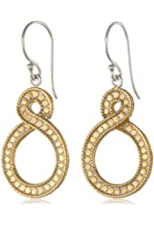 """Anna Beck Designs """"Timor Twisted"""" 18k Gold-Plated Small Twisted Drop Earrings"""