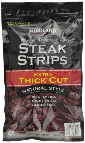 Beef Steak Strips - Kirkland Signature Premium Beef Steak Strips Jerky 12 Oz by Kirkland Signature [Foods]