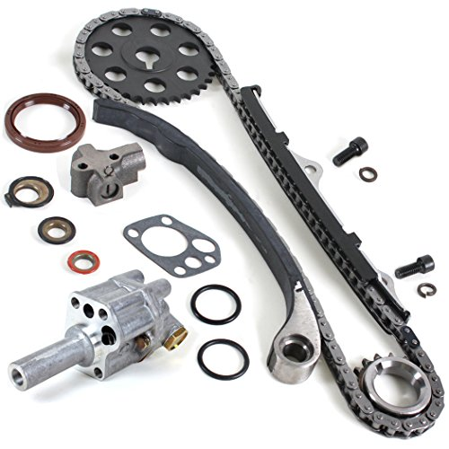 (NEW TK10090OP (Single Row, 102 Links) Timing Chain Kit & Oil Pump Set for 1990-97 Nissan D21 Pickup 2.4L SOHC KA24E)