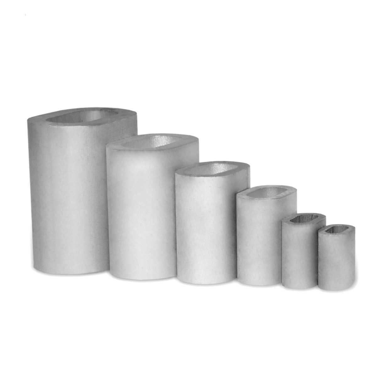 Seilwerk STANKE 50 x Pressklemme Grö ß e 1 Seilklemme Drahtseilklemme Aluminium