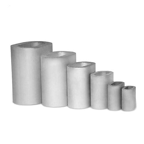 Seilwerk STANKE 10 x Pressklemme Gr/ö/ße 14 Seilklemme Drahtseilklemme Aluminium