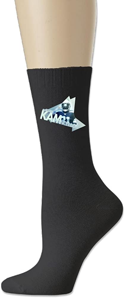 Show Time Bam Bam Kam Men's Football Cotton Crew Athletic Socks 2-Pack,Black