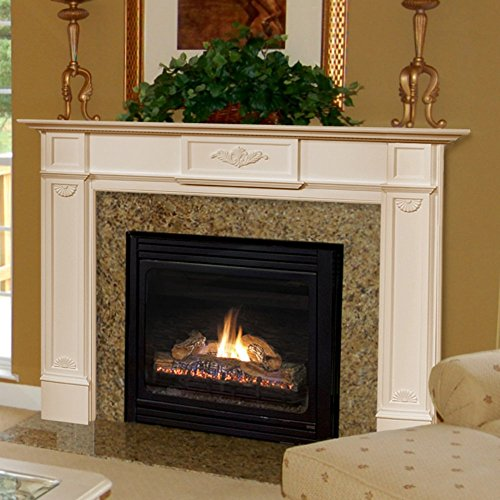 Fireplace Surrounds Mantels (Pearl Mantels Monticello Wood Fireplace Mantel)