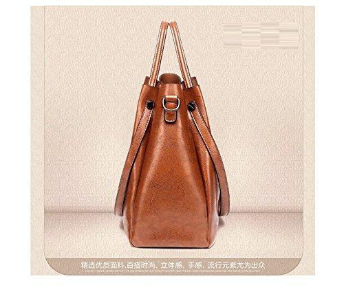 Brown De Señoras Único Sesgar Bolso Negro Gran De Hombro Moda Spanning Capacidad GWQGZ La Bolsa Minimalista t8cZa