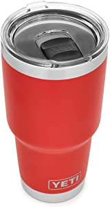 YETI Rambler 30 oz Stainless Steel Vacuum Insulated Tumbler w/MagSlider Lid, Canyon Red