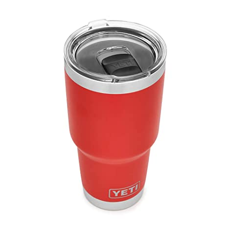 04030246e75 YETI Rambler 30 oz Stainless Steel Vacuum Insulated Tumbler w/MagSlider  Lid, Canyon Red