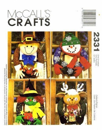 (McCall's 2331 Crafts Sewing Pattern Seasonal Wreaths Christmas Thanksgiving Halloween)