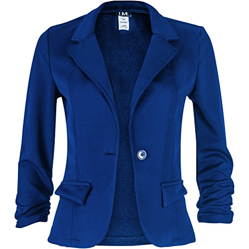 Contenta Women's Solid Color 1 Button Blazer in Knit. Great for a Night Out. (medium, royal) (Party City Canada Careers)