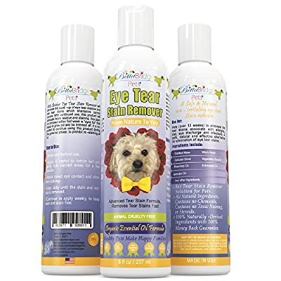 Betta Bridges Pets Natural Tear Stain Remover For Dogs, 8 Oz