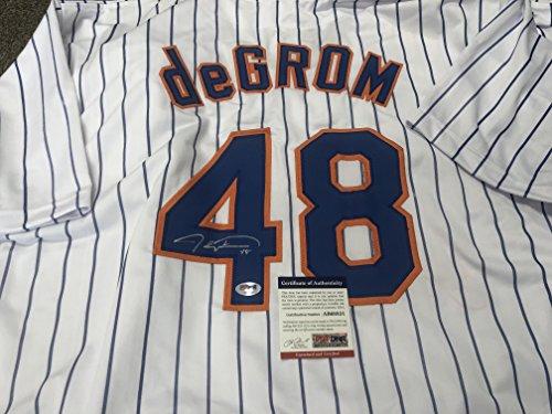 Jacob Degrom Autographed Signed New York Mets Custom Jersey PSA/DNA COA & Hologram (Autographed Jersey Mets)