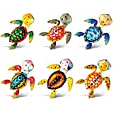 Puzzled Sea Turtle Refrigerator Bobble Magnet (Set of 6)