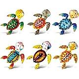Puzzled Sea Turtle Refrigerator Bobble Magnet (Set of 6)
