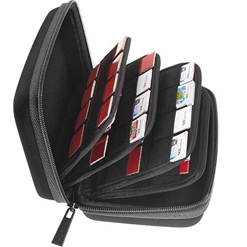 - Butterfox 64 Game Card Storage Holder Hard Case for 3DS, 2DS and DS - Black