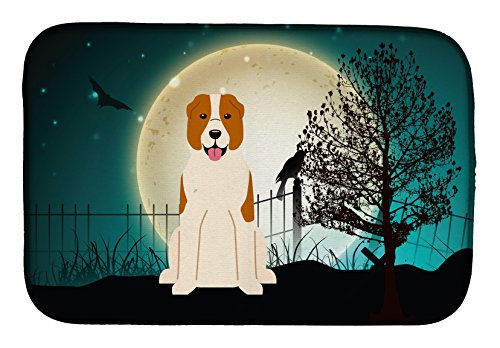 Caroline's Treasures BB2239DDM Halloween Scary Central Asian Shepherd Dish Drying Mat, 14
