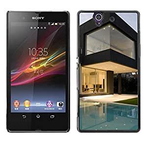 "For Sony Xperia Z , S-type Arquitectura Moderna Pool House"" - Arte & diseño plástico duro Fundas Cover Cubre Hard Case Cover"