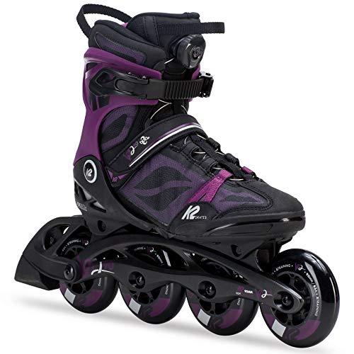 K2 Skate Women's VO2 90 Boa Inline Skate, Black Purple, - Skates Women Roller K2