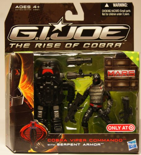 - G.I. Joe Movie The Rise of Cobra Exclusive M.A.R.S. Troopers Action Figure Cobra Viper Commando with Serpent Armor