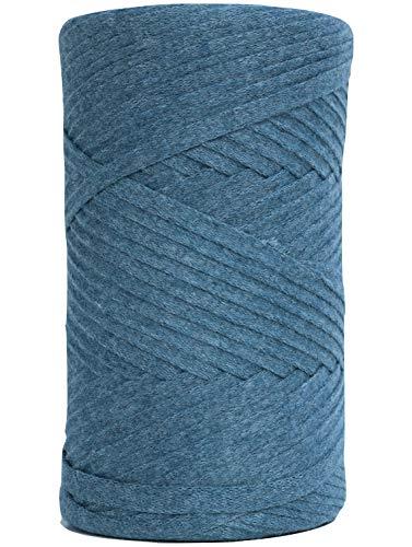 Tape Yarn 150 Yards/Cotton Tape Yarn/Bulky Yarn/Fast Track/Crochet/Knitting  Yarn/XL Yarn/Modern Crochet/Ribbon Yarn (Ocean Green)