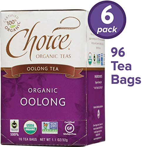 Choice Organic Teas Oolong Tea, 6 Boxes of 16 (96 Tea Bags), Oolong