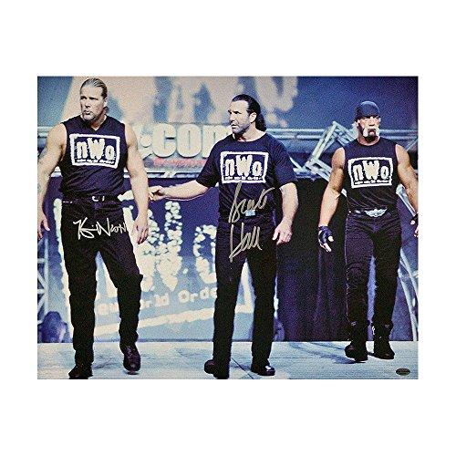 NWO Kevin Nash & Scott Hall Autographed 16x20 Photo WWE WCW - Leaf COA