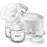 Philips Avent Comfort Double Electric Breast Pump, Includes Natural Bottles, Teats, Sealing Discs and Travel Bag, SCF334…