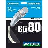 Yonex BG 80 Badminton Racket String - 10m Set