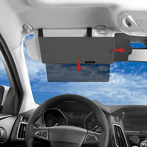 Best SAILEAD Polarized Sun Visor Sunshade Extender for Car with Polycarbonate Lens, Anti-Glare Car Sun Visor Protects from Sun Glare, Snow Blindness, UV Rays, Universal for Cars, SUVs