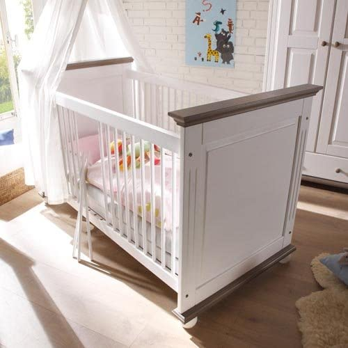lifestyle4living Babyzimmer Komplettset in Wei/ß aus massiver Kiefer Komplettes Babyzimmer besteht aus 4 Teilen im Landhausstil Babyzimmerset bietet viel Stauraum