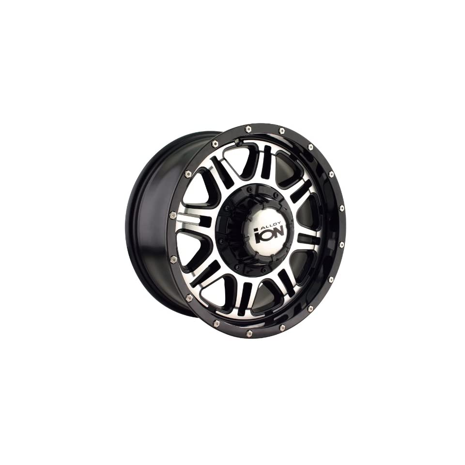 16x8 ION Alloy Style 186 (Black w/ Machined Face) Wheels/Rims 5x127/114.3 (186 6856B)