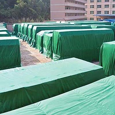 Toldos de Lona Verde Carpa para Camiones Lona para Acampar Jardín Exterior UV Impermeable Protector Solar Lentes de radiación a Prueba de Humedad, Grosor 0.5 mm, 520 g / m2 (Tamaño :