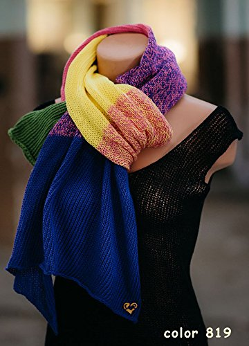 ZuzuHobby Unique Cotton Yarn, Multicolor, Wonderful Knitting Roll, Hand Knitting, Crocheting, 9,88 Ounces / 984 Yards (811) by ZuzuHobby (Image #7)