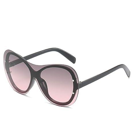 Yangjing-hl Gafas de Sol siamesas Gafas de Sol Moda Mujer ...