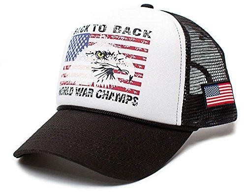 Eagle Back To Back World War Champs Unisex-Adult Trucker Hat -One-Size ()