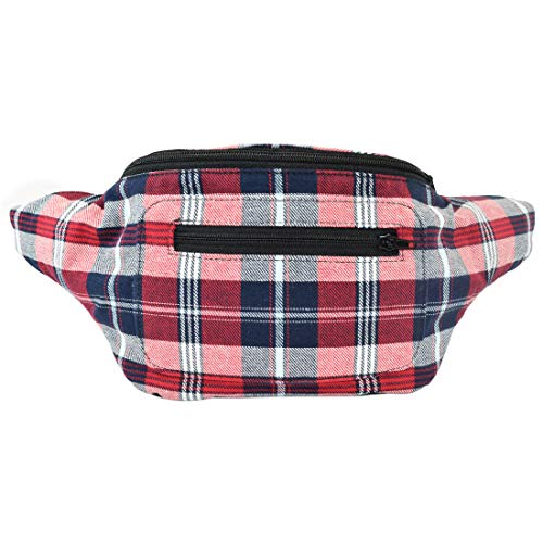 (Stylish Scottish Tartan Fanny Pack with Hidden Pocket Handmade (Classic Flannel))