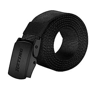 Rzting Men Belts, Nylon Canvas Waist Beltwith YKK Plastic Buckle for Jeans, Trouser Belts (Men Canvas Belts, Medium)