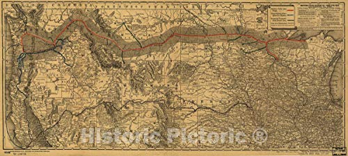(Historic 1882 Map | Northern Pacific Railroad Co.-Completed Road, September 5th, 1882. 54in x 24in)