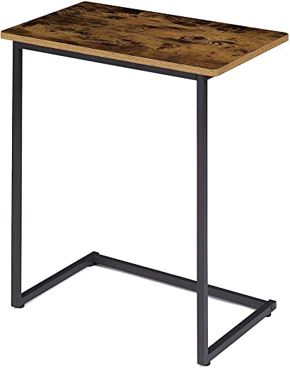 EKNITEY Sofa C Side Tables Living Room,Portable End Table Rustic Snack Table Couch Table