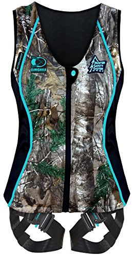 Hunter Safety System Women's Contour Safety Harness with ElimiShield Scent Control Technology (NEW for 2017), Small/Medium
