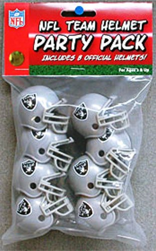 Oakland Raiders Official NFL 1.5 inch Team Helmet Party Pack by Riddell