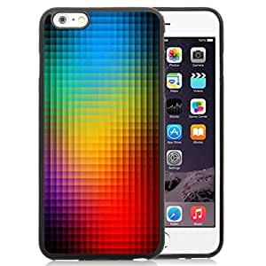 Beautiful Custom Designed Cover Case For iPhone 6 Plus 5.5 Inch With Neon Light Mosaics Phone Case WANGJING JINDA