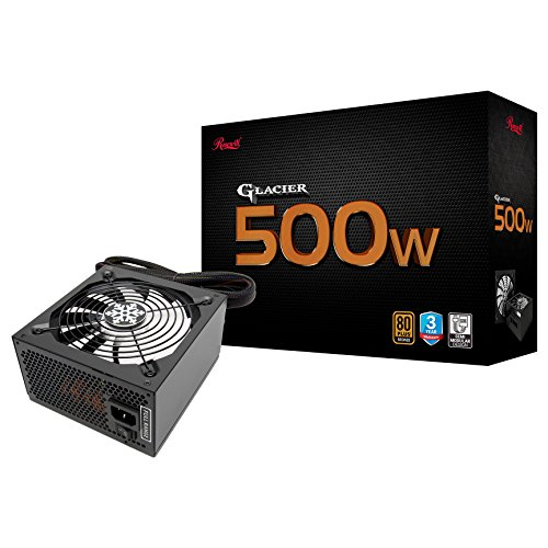 - ROSEWILL Computer Modular Power Supply/PSU, Glacier Series 500 Watt 80 Plus Bronze Certified PSU with Silent 135mm Fan with Auto Fan Speed Control, 3 Year Warranty