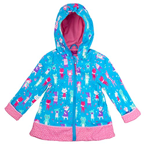 - Stephen Joseph Kids' Toddler Print Raincoat, Cats and Dogs, 4T