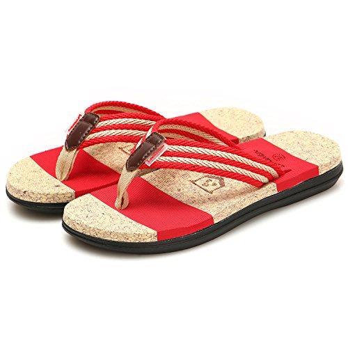 Piscine Femme Gesimei Sandales Tongs Chaussures Été Rouge Plage AwwqRtgO