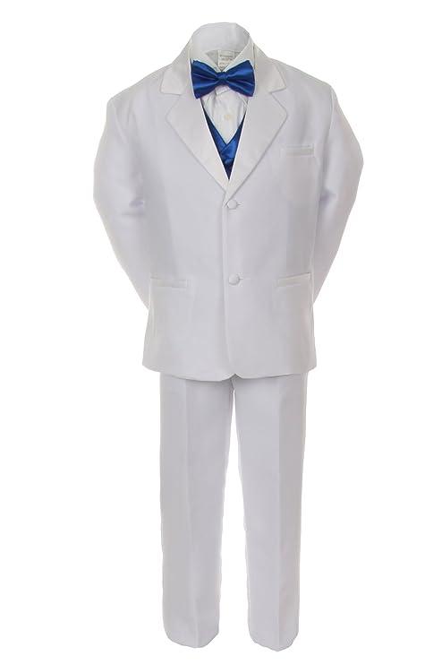 Amazon.com: unotux 7pcs Boy trajes de esmoquin blanco con ...