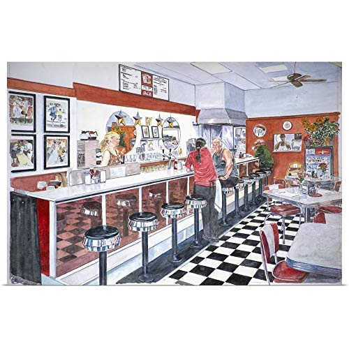 GREATBIGCANVAS Poster Print Entitled Interior, Soda Fountain, NYC, 2012 by Anthony Butera 18