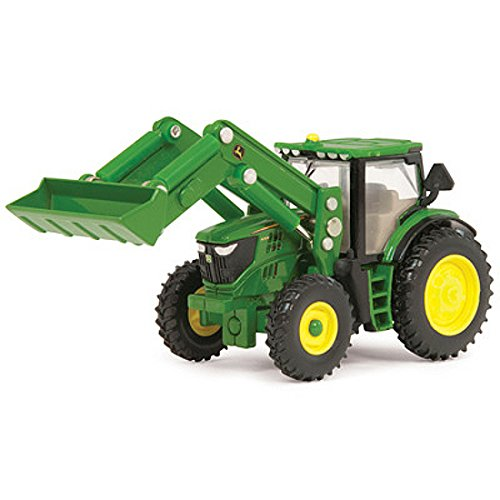 John Deere Ertl 6210R Toy Tractor with Front Loader (1:64 Scale) - John Deere Loader