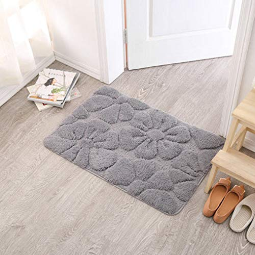 (Dal-Msee Absorbent Washable Non-Slip Bath Mats/Floor Carpet Bed Rugs for Living Room Kitchen Carpet WC Mat)