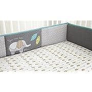 Levtex Home Baby Zambezi 4 Piece Crib Bumper Set, Grey