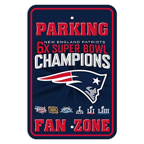 Fremont Die NFL New England Patriots Super Bowl LIII Champion Parking Sign ()